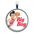 Big Boy Key Ring Cufflinks Round Ring Necklace Earrings Classic Restaurant