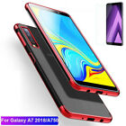 For Samsung Galaxy A9 A7 A8 A6 2018 Soft Hybrid Clear Case Cover+ Tempered Glass