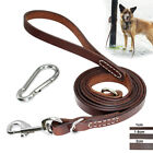 Genuine Leather Large Pet Dog Leash Handcraft Leads Heavy Duty Clasp USA
