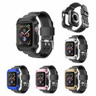 Armor Rugged Protective Case Bumper+Watch Band For Apple Watch Series 4 40mm44mm image
