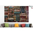 Old Books Poster Canvas Print Vintage Wall Art Pin Up Room Decor Home Decor