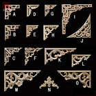 1PC Rubber Wood Hand-Carved Angular Lace Furniture Cabinet Background Decoration