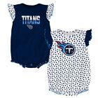 "Tennessee Titans NFL Newborn Navy/White ""Polka Fan"" 2 Piece Creeper Set $10.39 USD on eBay"