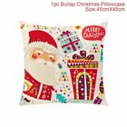 Linen Pillow Case Santa Claus Merry Christmas Decorationz For Home New Years