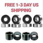 8 Skateboard Longboard Bearings with Spacers red abec 9 swiss black CHOOSE PACK