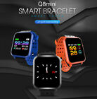 Q8mini Bluetooth Smart Watch Heart Rate Monitor Bracelet Wristband for Android K
