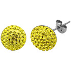 TRESOR PARIS BONBON SPARKLING CRYSTAL CIRCLE DISC EARRINGS WITH TITANIUM BACKS <br/> ALLERGY FREE, RRP &pound;39, CLEARANCE SALE, FREE POSTAGE!!!