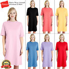 Hanes Womens Wear Around T-Shirt Dress Comfort Nightshirt Top Nightwear T Shirt