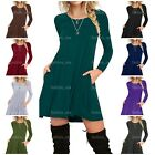 I2CRAZY Women's Casual Dress Pleated Loose Swing T-Shirt Dresses with Pockets