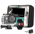 Action camera 4K Sports Ultra HD DV 16MP 1080p 60fps + Accessory Bundle