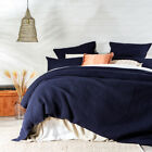 New MUSE Chunky Waffle Navy Quilt Cover Set