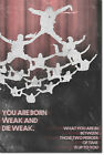 """Skydiving Motivational Poster 03 """"You are born weak"""" Art Print Motivation Quote"""