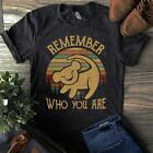 Simba Remember Who You Are Vintage Men's Black T-Shirt Cotton M-6XL image