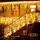 Christmas LED Fairy String Light Icicle Curtain Outdoor Indoor Decor Connectable