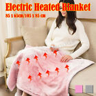 'Electric Heated Throw Over Under Blankets Fleece Warm Bed Mattress Cover Heater