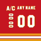 Calgary Flames 1980-94 Red Jersey Customized Number Kit un-stitched $34.99 USD on eBay