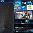 Fast Core I5 Gaming Pc + Monitor Bundle 16gb Ram 2tb Hdd Fortnight Computer