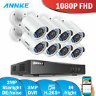 ANNKE CCTV 960P 1.3MP 4/8CH NVR Surveillance Camera POE System IP Network NO/4TB