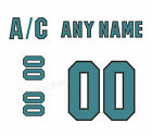 San Jose Sharks 2015-2018 Away Jersey Customized Number Kit un-sewn $34.99 USD on eBay
