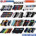 6 Pairs Mens Trainer Liner Ankle Socks Funky Designs Adults Sports 6-11