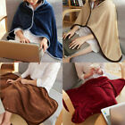 70X120cm Solid Flannel shawl Super Warm Soft Blanket Throw Sofa/Bed/Plane Travel image