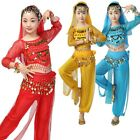 5pcs Set Girls Belly Dance Costume Children Indian Dance Performance Outfits New
