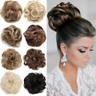 real soft curly messy bun hair piece scrunchie 100 natural hair extensions us
