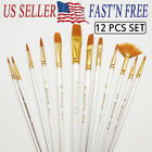 12Pcs Set Artist Paint Brushes Set Art Painting Supplies Acrylic Oil Paintings фото
