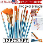 12Pcs Set Artist Paint Brushes Set Art Painting Supplies Acrylic Oil Paintings