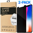 2-Pack Privacy Anti-Spy Tempered Glass Screen Protector iPhone 6 7 8 X XS Max XR