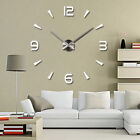 Large Wall Clock Watch Decal 3D Stickers Roman Numerals Modern Home Wall Decor