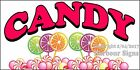 (CHOOSE YOUR SIZE) Candy DECAL Concession Food Truck Vinyl Sign Sticker