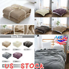 Super Soft Warm Plush Fleece Blanket Throw Rug Sofa Bedding Blanket Luxury Large image