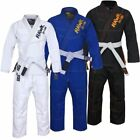 BJJ Gi Jiu Jitsu Uniform Kimonos Adult MMA Judo Brazilian Grappling Free Belt
