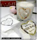 Heart wreath stickers foil candle, jar label wedding, Let love glow, confetti