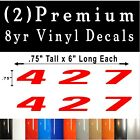 Pair of 427 Vinyl DECALS Badge Fender Door Tailgate Emblem Premium Vinyl!
