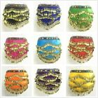 Large Size Belly dance Costume Hip Scarf Skirts Indian Belt Velvet Coins Beads
