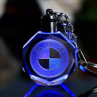LED Car Logo Keychain Crystal Light Motor Laser Key ring Cute Holder Cable Gift