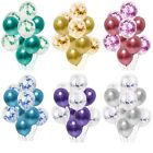 Внешний вид - 10pc/lot Chrome Confetti Balloons Bouquet Birthday Party Decor Metallic Wedding