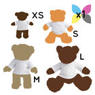 1 Blank White Teddy Bear Toy T-Shirt for Sublimation Transfer Printing Gift