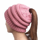 BeanieTail Soft Stretch Cable Knit Messy High Bun Ponytail Beanie Hat <br/> ✅FAST DISPATCH✅PREMIUM QUALITY✅TRUSTED SELLER