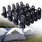 10-50 Sets Awning Tarp Clamp Set Clips Hangers Survival Tent Emergency Grommet