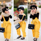 Внешний вид - Toddler Kids Baby Girl Ruffle Bib Pants Romper Jumpsuit Overalls Outfits Clothes