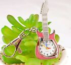 New Cute Guitar style Key Ring Chain watch boys girls lady Students kid gift DK1
