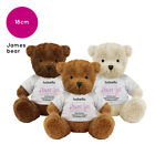 Personalised Name Flower Girl James Teddy Bear Wedding Favour Thank You Gift