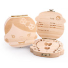 Внешний вид - Kids Boy&Girl New Tooth Box organizer for baby Save Milk teeth Wood Storage Box