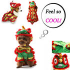 Pet Costumes Dog Suit with Cap Lion Dog Hoodies Cat Coat Clothes Clothing WO