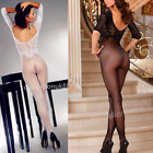 Sexy floral lingerie bodystocking bodysuit crotchless full bodytights underwear