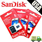 SanDisk 8GB 16GB 32GB 64GB Micro SD SDHC TF Flash Class 4 Memory Card w Adapter