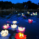 10/50/100X Lotus Flower Floating Paper Lantern Candle Wedding Party Lighting DIY